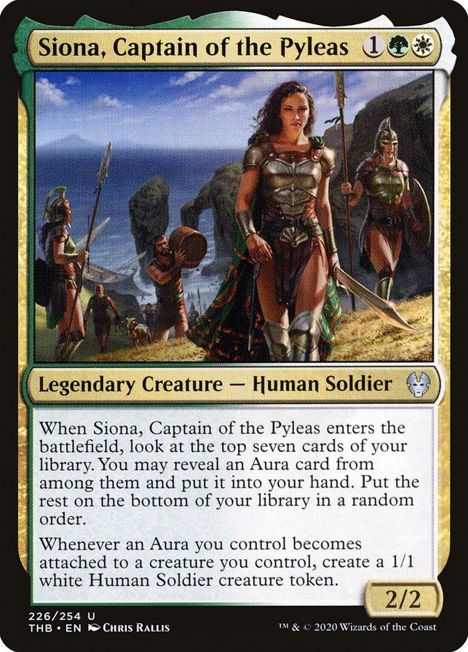 Carta Siona, Capitã do Píleas/Siona, Captain of the Pyleas de Magic the Gathering