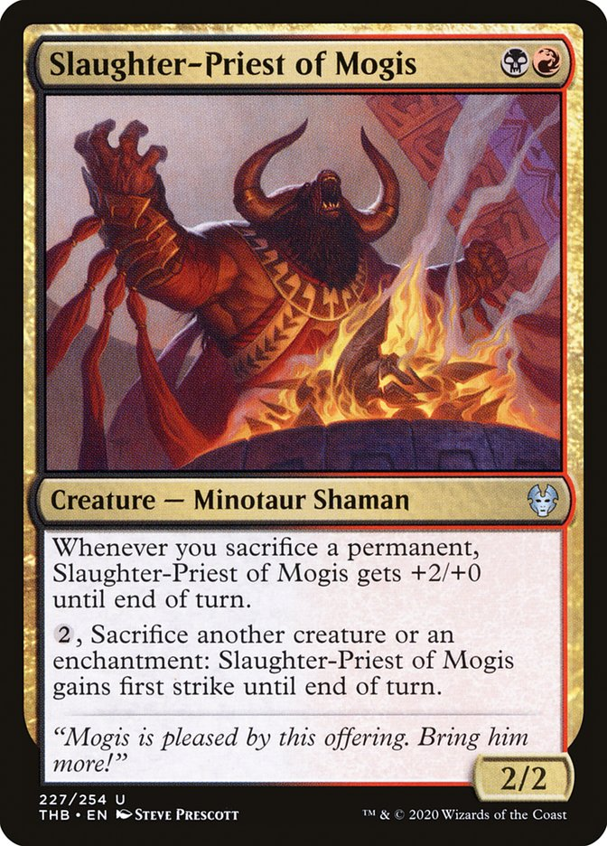 Carta Sacerdote da Matança de Mogis/Slaughter-Priest of Mogis de Magic the Gathering
