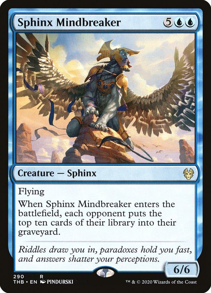 Carta Esfinge Quebra-mentes/Sphinx Mindbreaker de Magic the Gathering