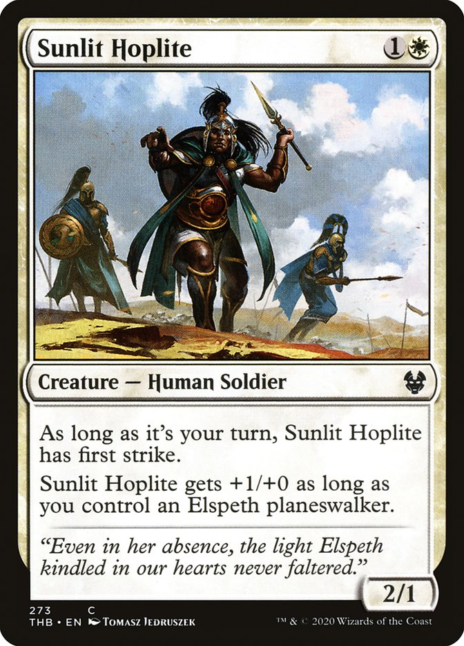 Carta Hoplita Iluminado pelo Sol/Sunlit Hoplite de Magic the Gathering