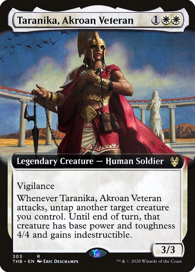 Carta Tarânica, Veterana Acrosana/Taranika, Akroan Veteran de Magic the Gathering