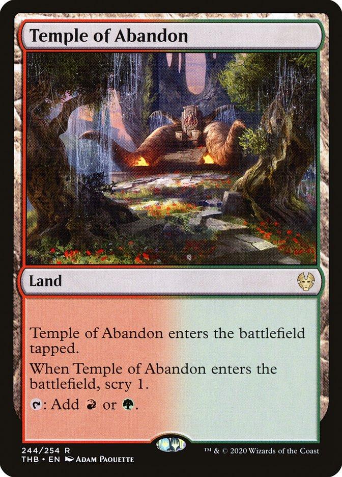 Carta Templo do Abandono/Temple of Abandon de Magic the Gathering