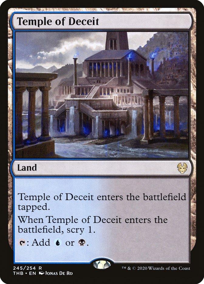 Carta Templo do Engano/Temple of Deceit de Magic the Gathering