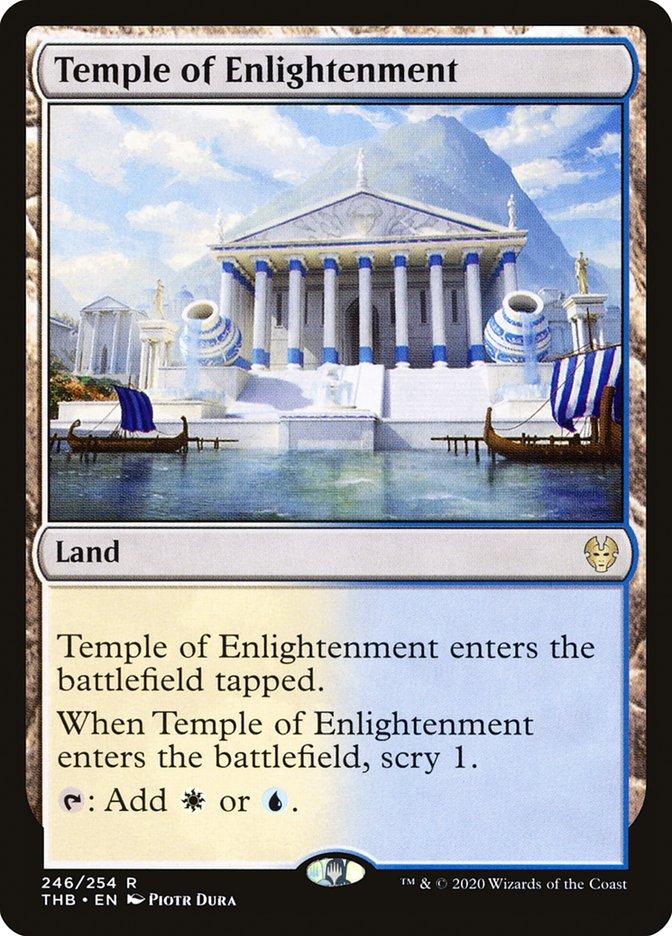 Carta Templo da Iluminação/Temple of Enlightenment de Magic the Gathering