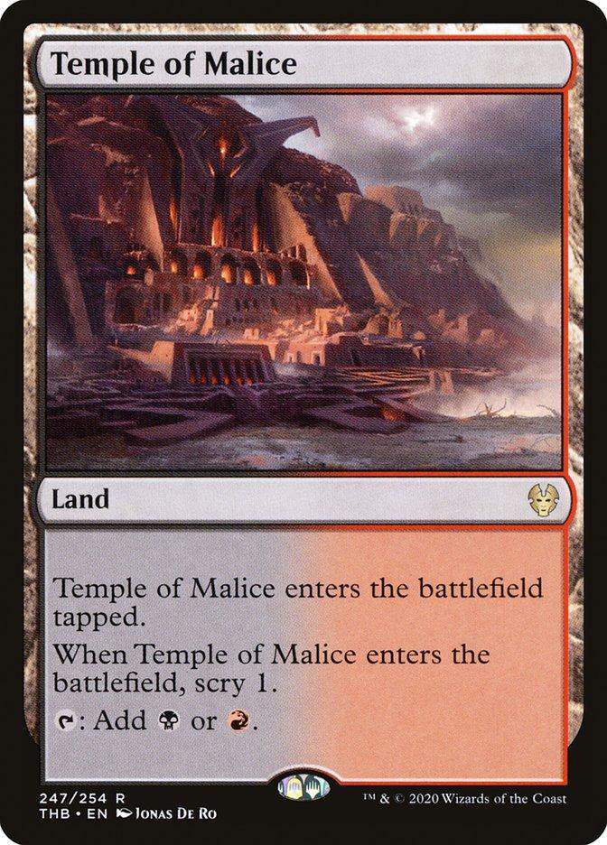 Carta Templo da Maleficência/Temple of Malice de Magic the Gathering