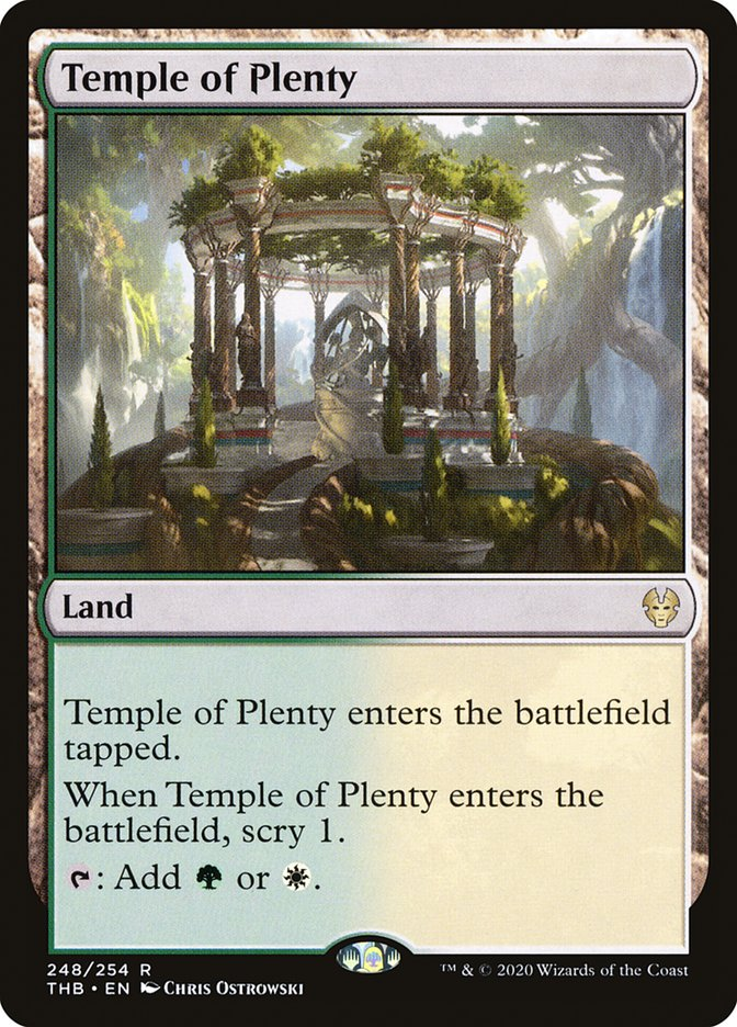 Carta Templo da Fartura/Temple of Plenty de Magic the Gathering