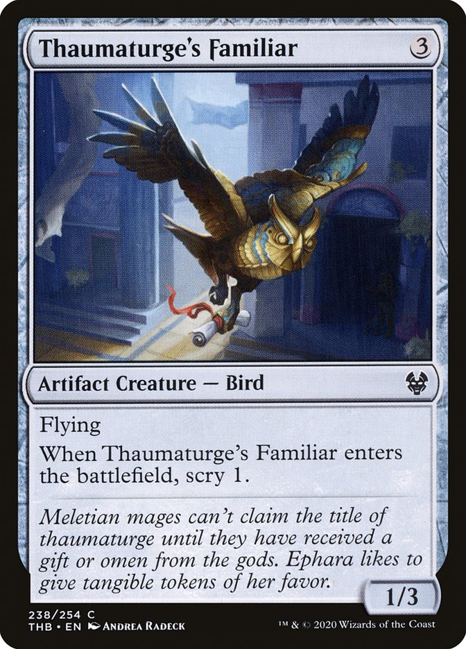 Carta Familiar do Taumaturgo/Thaumaturge's Familiar de Magic the Gathering