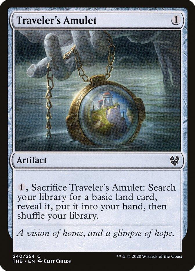 Carta Amuleto do Viajante/Traveler's Amulet de Magic the Gathering