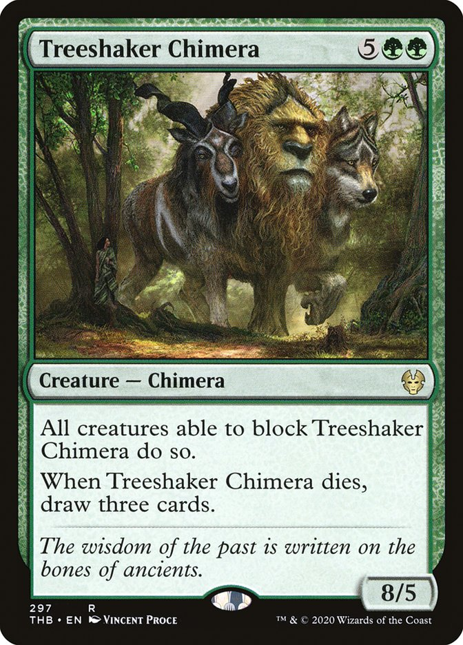 Carta Quimera Farfalhante/Treeshaker Chimera de Magic the Gathering