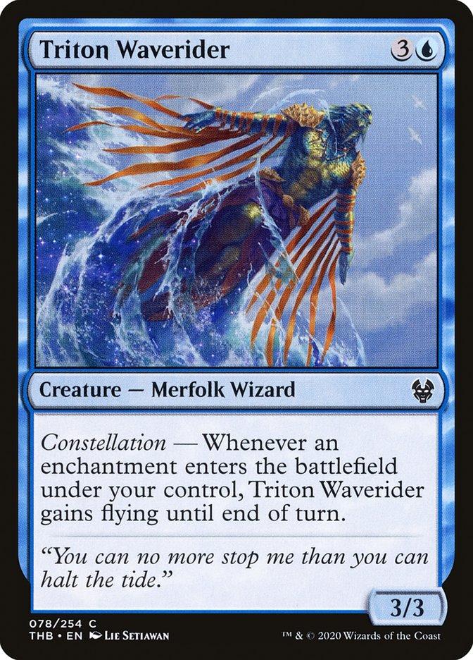 Carta Talassido Cavalga-onda/Triton Waverider de Magic the Gathering
