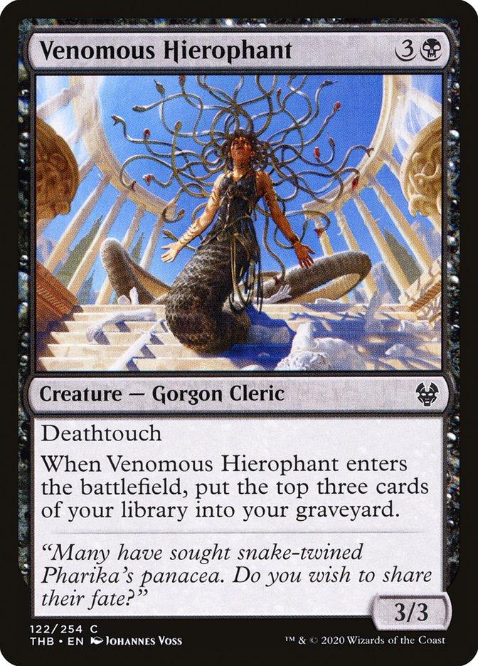 Carta Hierofante Venenosa/Venomous Hierophant de Magic the Gathering