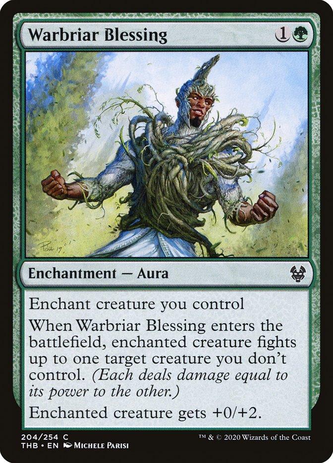Carta Bênção da Sarça-de-guerra/Warbriar Blessing de Magic the Gathering