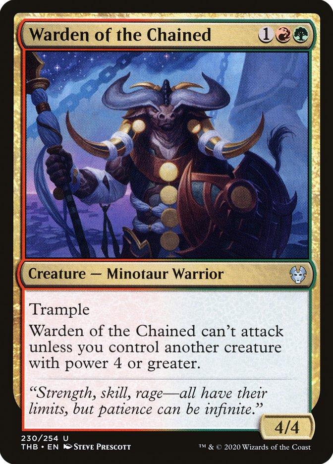 Carta Guardiã dos Acorrentados/Warden of the Chained de Magic the Gathering