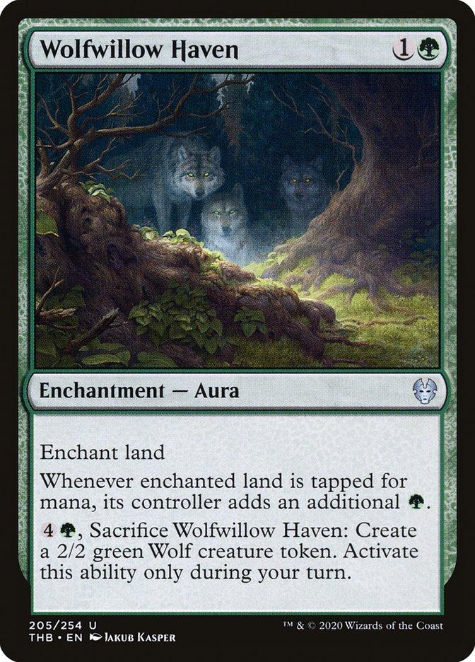 Carta Refúgio do Salgueiro dos Lobos/Wolfwillow Haven de Magic the Gathering