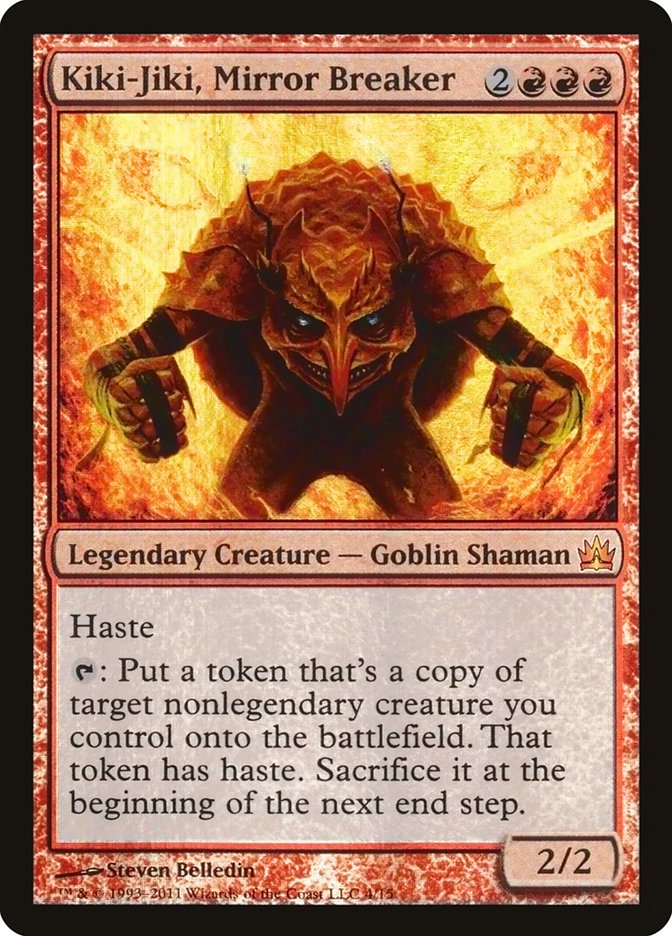 Carta Kiki-Jiki, o Estilhaçador de Espelhos/Kiki-Jiki, Mirror Breaker de Magic the Gathering