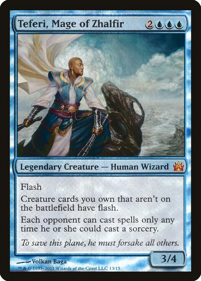 Carta Teferi, Mago de Zhalfir/Teferi, Mage of Zhalfir de Magic the Gathering