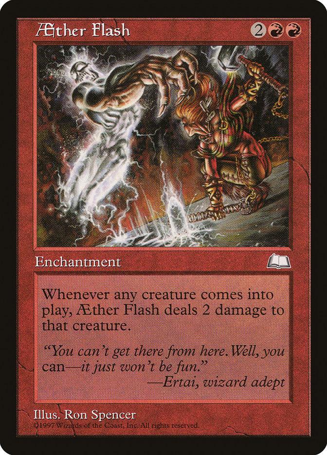 Carta Clarão do Éter/Aether Flash de Magic the Gathering