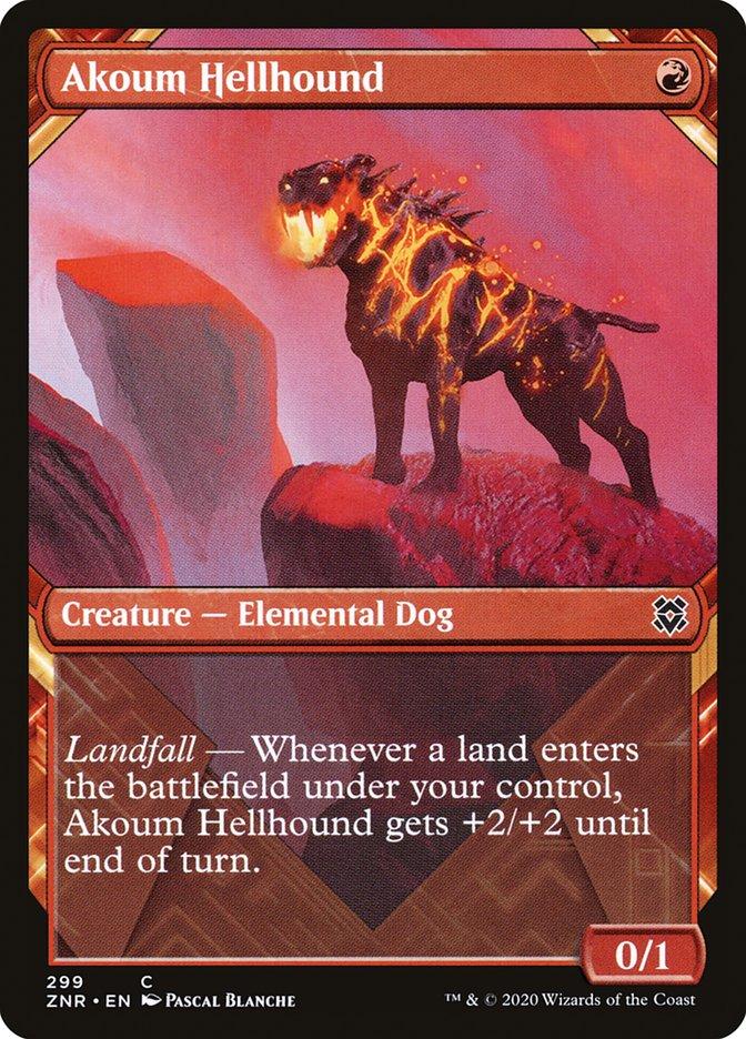 Carta Sabujo Infernal de Akoum/Akoum Hellhound de Magic the Gathering