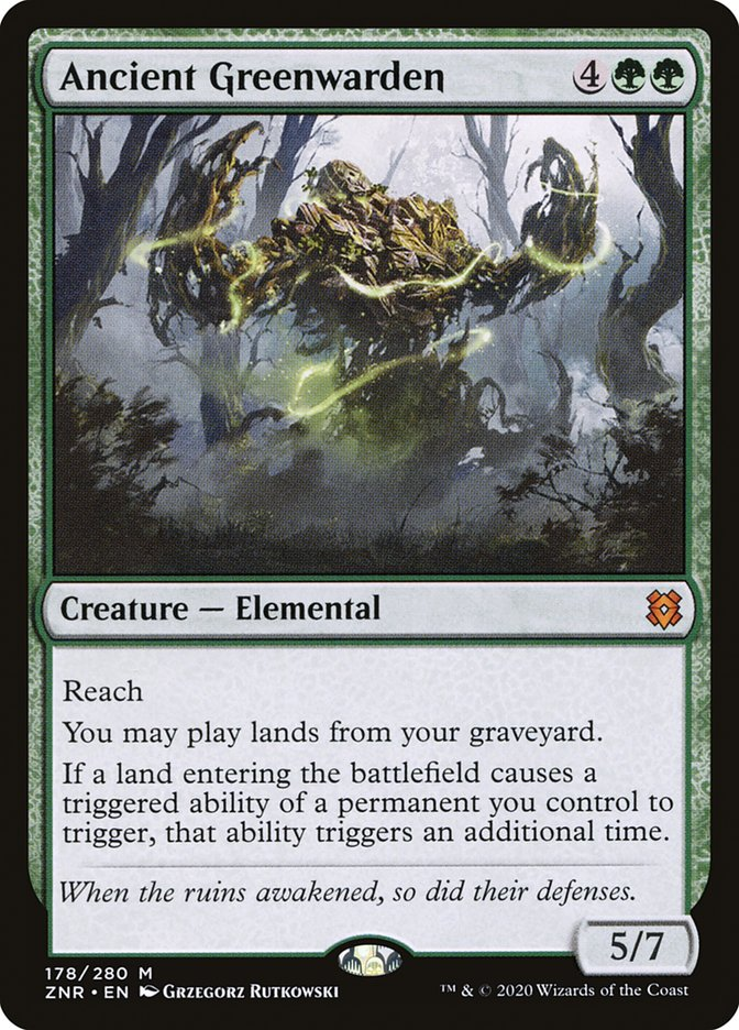 Carta Guardião da Flora Ancestral/Ancient Greenwarden de Magic the Gathering