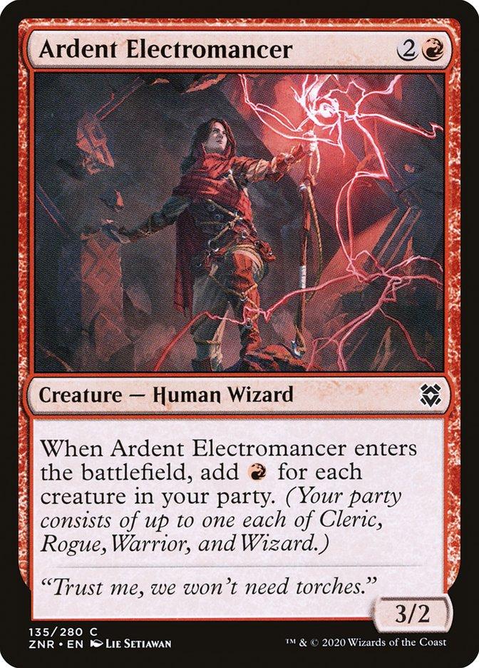 Carta Eletromante Ardente/Ardent Electromancer de Magic the Gathering