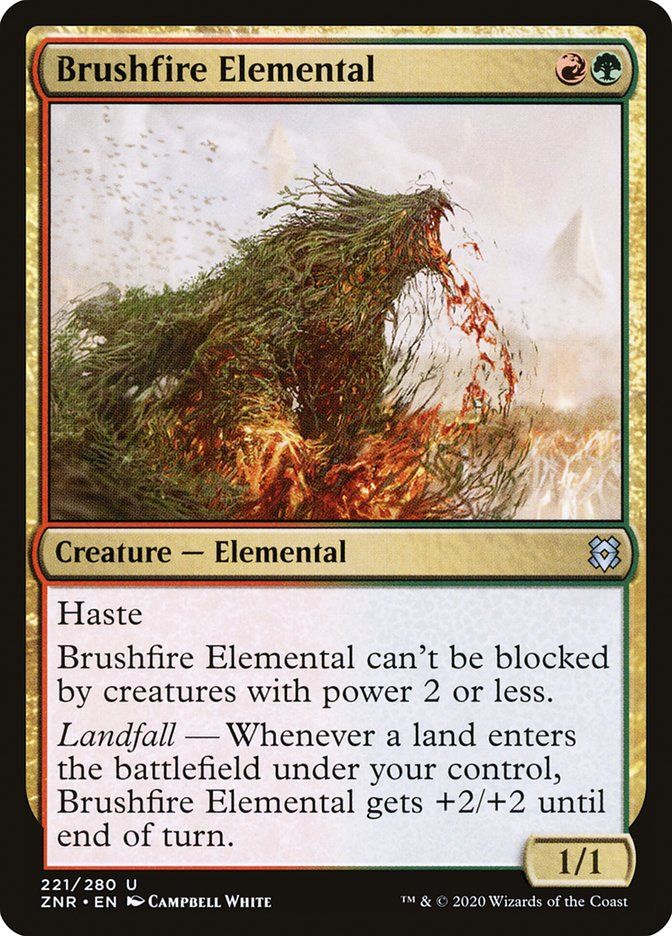 Carta Elemental das Queimadas/Brushfire Elemental de Magic the Gathering