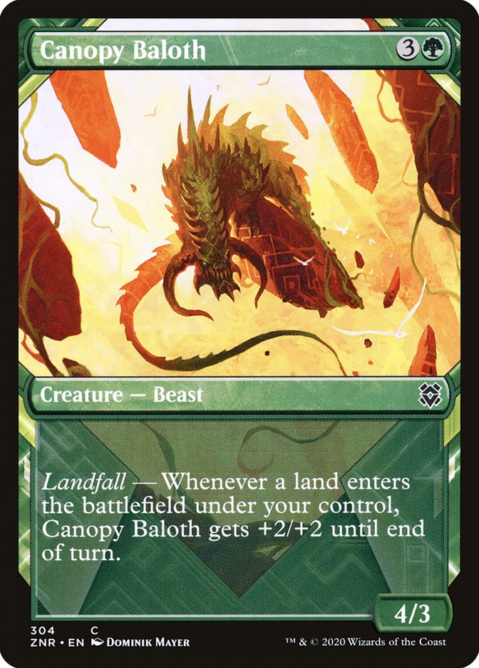 Carta Baloth do Dossel/Canopy Baloth de Magic the Gathering