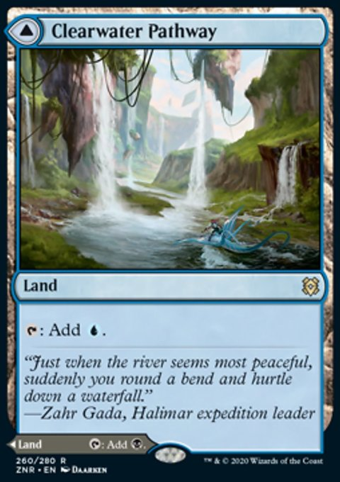 Carta /Clearwater Pathway // Murkwater Pathway de Magic the Gathering