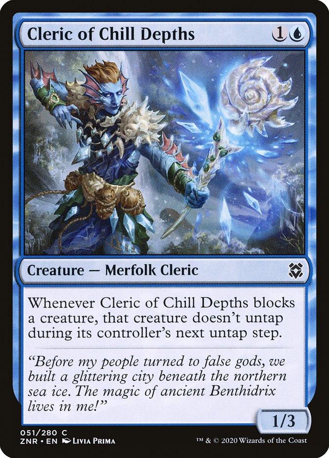 Carta Clérigo das Profundezas Gélidas/Cleric of Chill Depths de Magic the Gathering