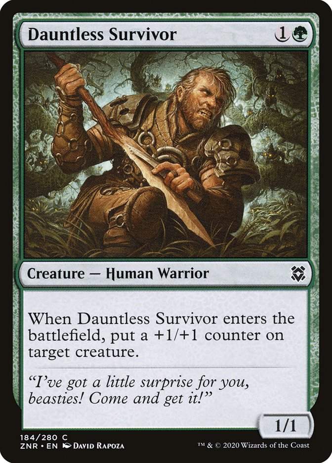 Carta Sobrevivente Intrépido/Dauntless Survivor de Magic the Gathering