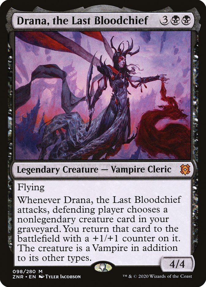 Carta Drana, Última Grã-vampira/Drana, the Last Bloodchief de Magic the Gathering