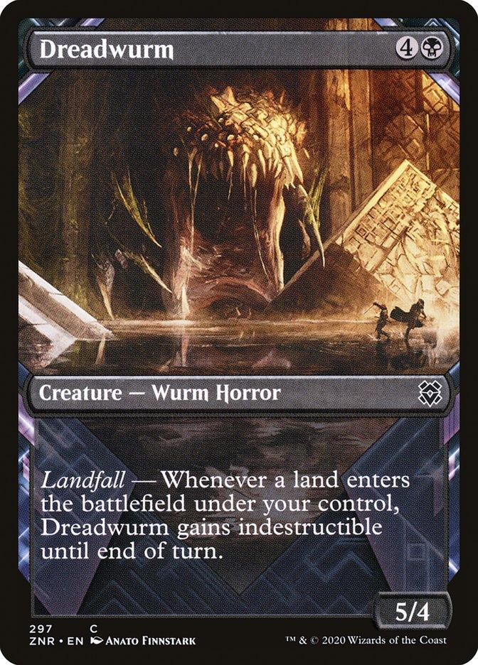 Carta Vorme do Medo/Dreadwurm de Magic the Gathering