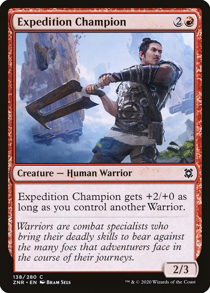 Carta Campeão da Expedição/Expedition Champion de Magic the Gathering