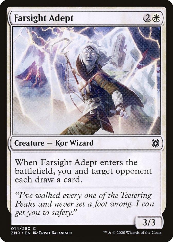 Carta Adepta de Longevisão/Farsight Adept de Magic the Gathering