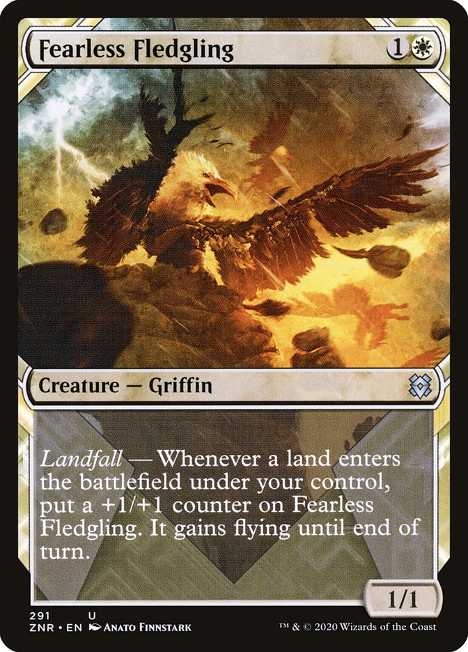 Carta Filhotinho Intrépido/Fearless Fledgling de Magic the Gathering