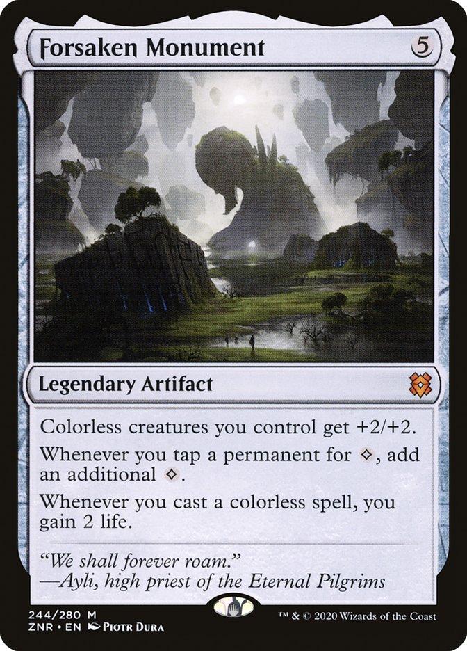 Carta Monumento Esquecido/Forsaken Monument de Magic the Gathering