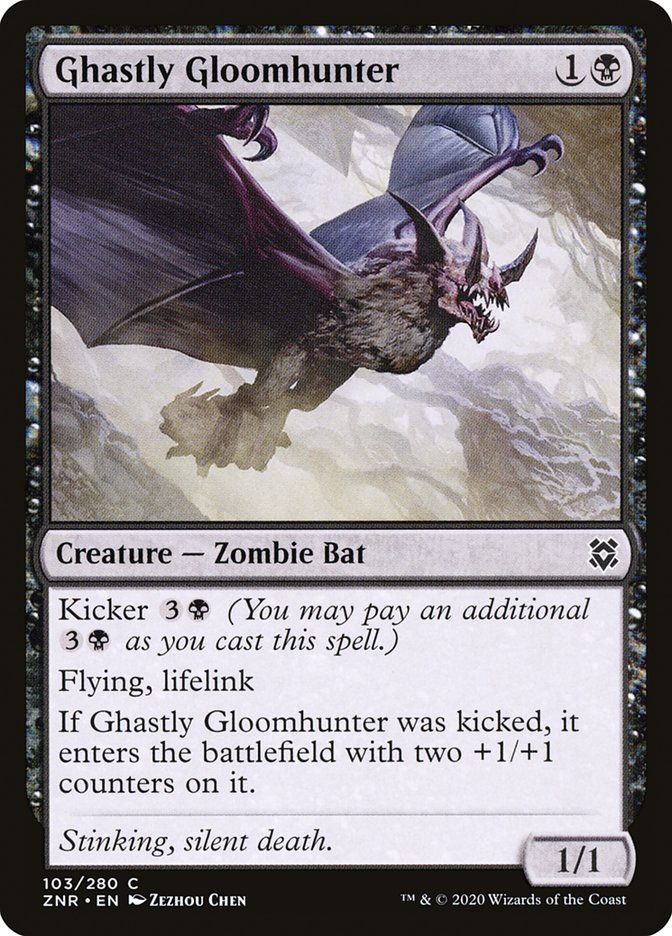 Carta Caçador das Trevas Fantasmagórico/Ghastly Gloomhunter de Magic the Gathering