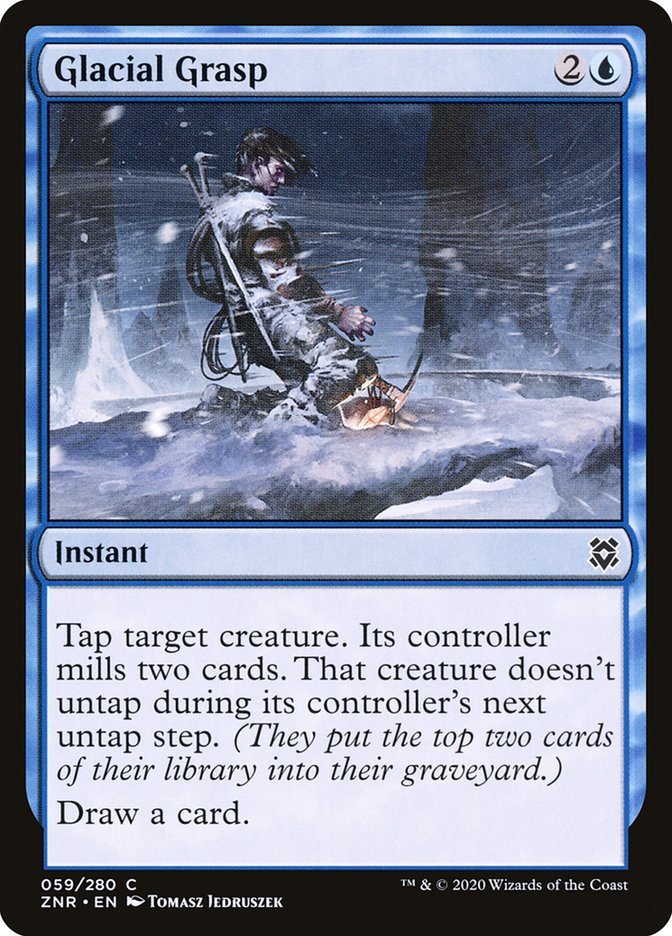 Carta Garras Glaciais/Glacial Grasp de Magic the Gathering