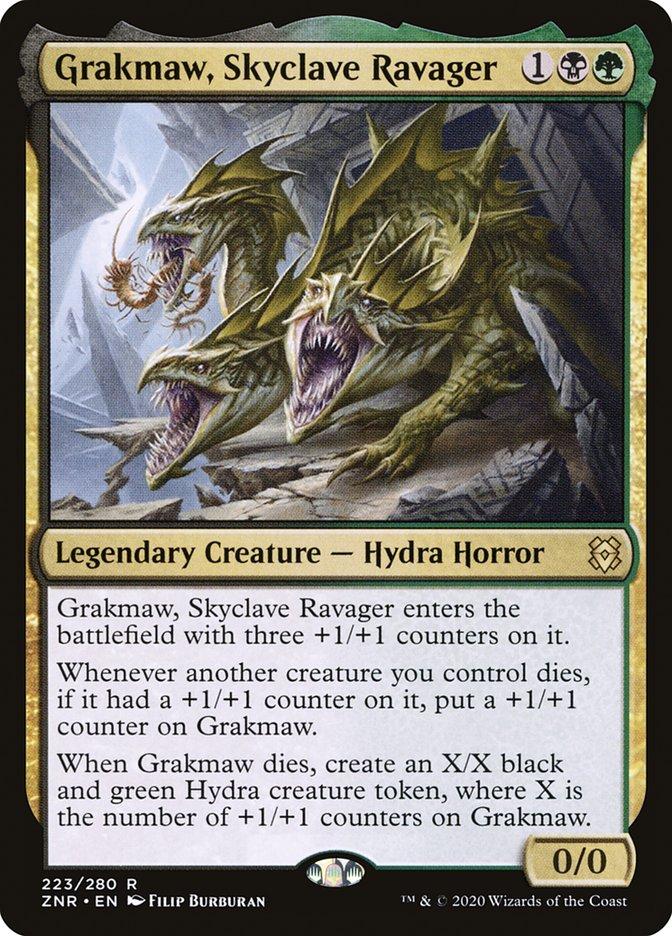 Carta Gragorja, Ruína do Enclave Celeste/Grakmaw, Skyclave Ravager de Magic the Gathering