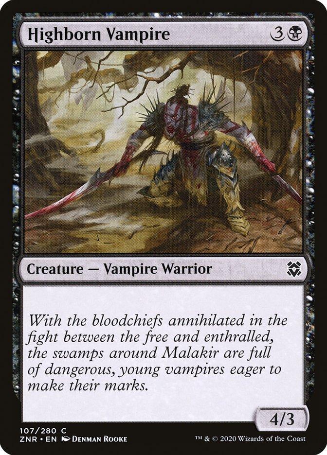 Carta Vampiro Fidalgo/Highborn Vampire de Magic the Gathering