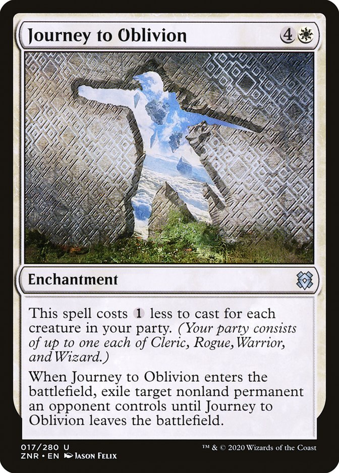 Carta Jornada Rumo ao Oblívio/Journey to Oblivion de Magic the Gathering