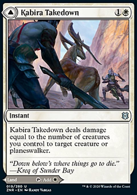 Carta /Kabira Takedown // Kabira Plateau de Magic the Gathering