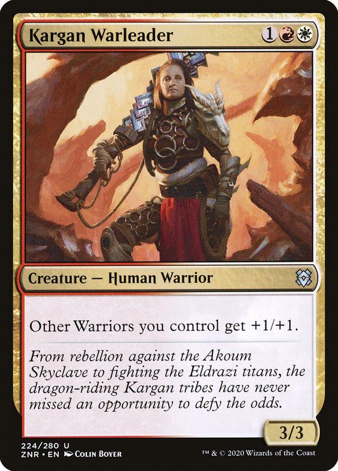 Carta Líder de Guerra Karganiana/Kargan Warleader de Magic the Gathering
