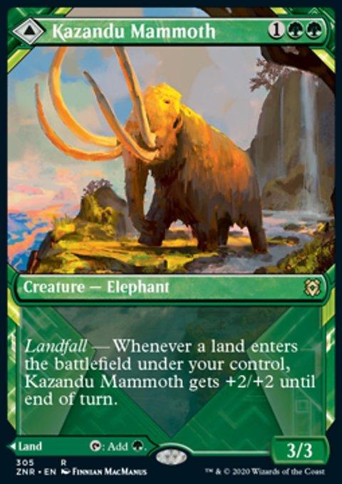Carta /Kazandu Mammoth // Kazandu Valley de Magic the Gathering