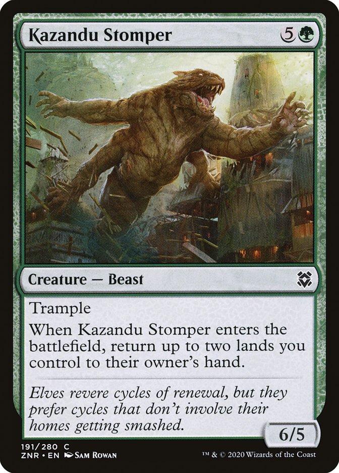 Carta Pisoteador de Kazandu/Kazandu Stomper de Magic the Gathering