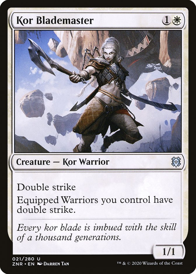 Carta Espadachim-mestra Kor/Kor Blademaster de Magic the Gathering