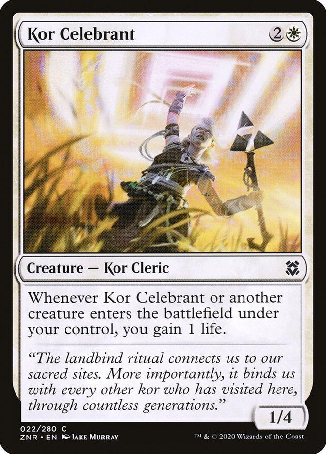 Carta Celebrante Kor/Kor Celebrant de Magic the Gathering