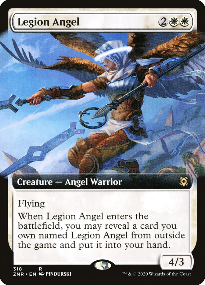 Carta Anjo da Legião/Legion Angel de Magic the Gathering