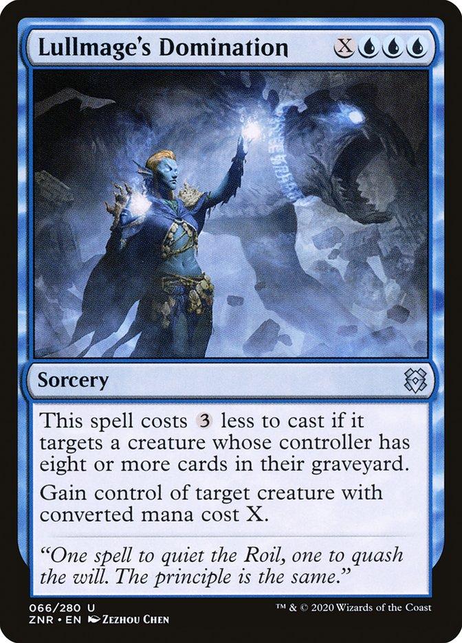 Carta Dominação do Mago Anulador/Lullmage's Domination de Magic the Gathering