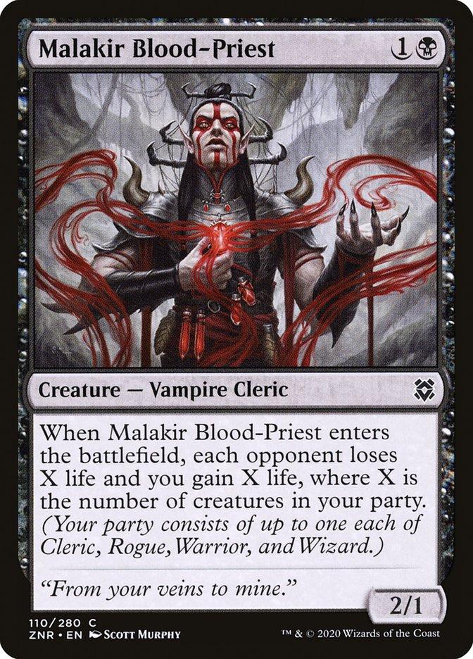 Carta Sacerdote de Sangue de Malakir/Malakir Blood-Priest de Magic the Gathering