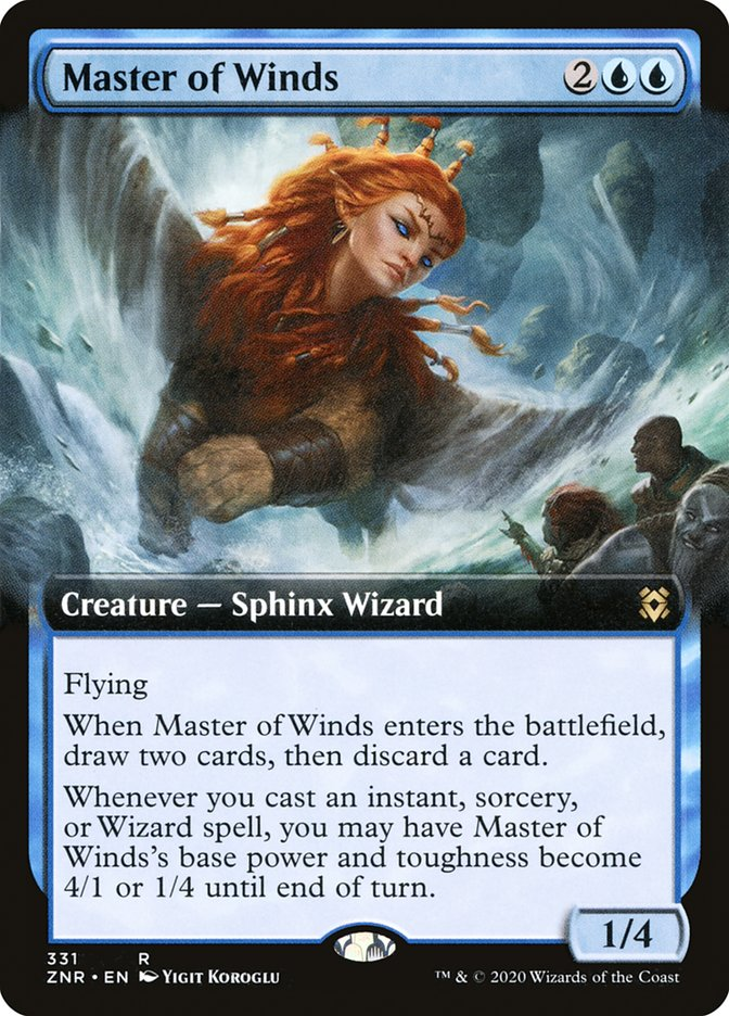 Carta Mestra dos Ventos/Master of Winds de Magic the Gathering